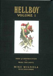 HELLBOY LIBRARY ED VOL 1 SEED OF DESTRUCTION & WAKE THE DEVIL HC