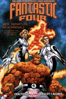 FANTASTIC FOUR TP VOL 01 NEW DEPARTURE NEW ARRIVAL