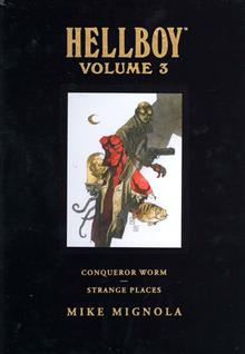 HELLBOY LIBRARY ED VOL 3 CONQUEROR WORM & STRANGE PLACES HC