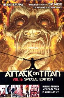 ATTACK ON TITAN GN VOL 16 PLAYING CARD DECK SP ED