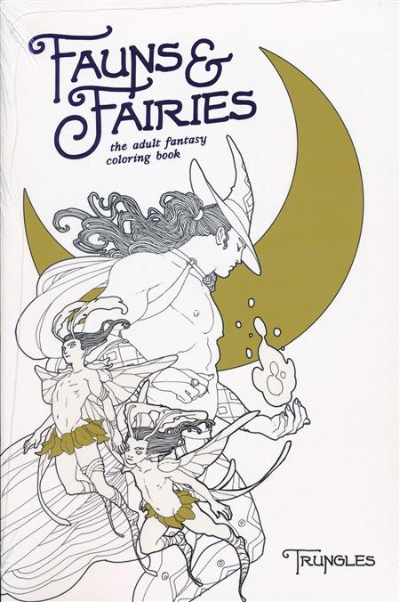 Fauns And Fairies Adult Coloring Book (MR) - Discount Comic Book Service