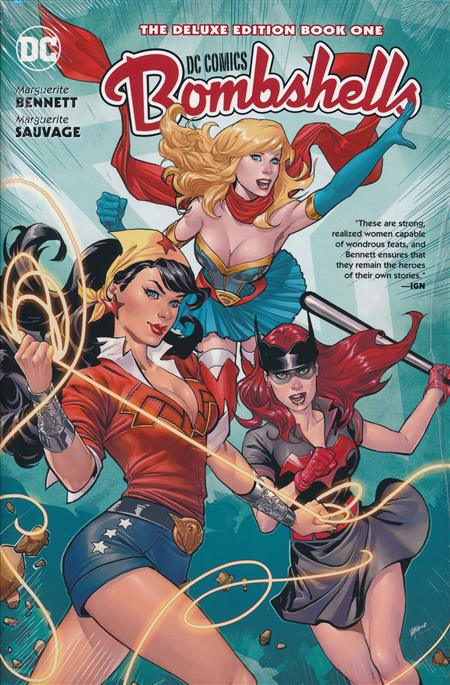 DC BOMBSHELLS THE DELUXE ED HC BOOK 01