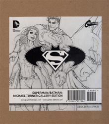 SUPERMAN BATMAN MICHAEL TURNER GALLERY ED HC