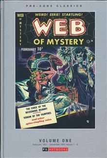 PRE CODE CLASSICS WEB OF MYSTERY HC VOL 01