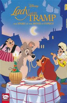 DISNEY LADY & THE TRAMP STORY MOVIE IN COMICS HC