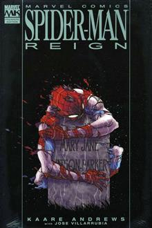 SPIDER-MAN REIGN PREMIERE HC RED COSTUME CVR
