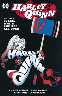 HARLEY QUINN TP VOL 06 BLACK WHITE & RED ALL OVER