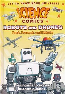 SCIENCE COMICS ROBOTS & DRONES HC GN