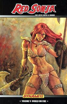 RED SONJA VOL 5 WORLD ON FIRE TP (MR)