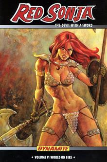 RED SONJA VOL 5 WORLD ON FIRE HC (MR)