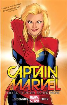 CAPTAIN MARVEL TP VOL 01 HIGHER FURTHER FASTER MOR