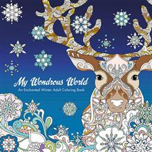 WONDROUS WORLD ENCHANTED WINTER ADULT COLORING BOOK TP