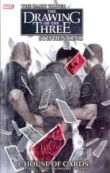 DARK TOWER DRAWING OF THREE HOUSE OF CARDS TP (MR)