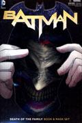 BATMAN DEATH OF THE FAMILY BOOK & JOKER MASK SET