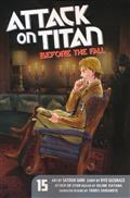 ATTACK ON TITAN BEFORE THE FALL GN VOL 15 (MR) (C: 1-1-0)