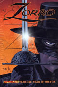 ZORRO YEAR ONE VOL 1 TRAIL OF THE FOX HC SGN CVR